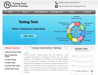 testingtoolsonlinetraining.in screenshot