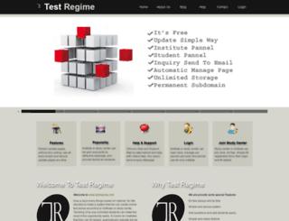 testregime.com screenshot