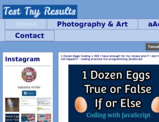 testtryresults.blogspot.com screenshot