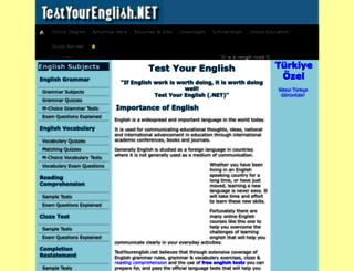 testyourenglish.net screenshot