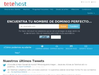 tetehost.com screenshot