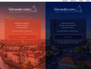 tetraeder.com screenshot