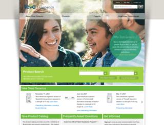 tevagenerics.com screenshot