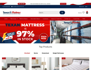 texanmattress.com screenshot