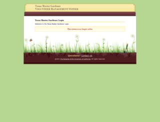 texas.volunteersystem.org screenshot