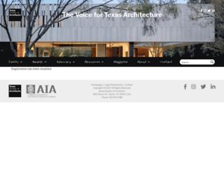 texasarchitect.org screenshot