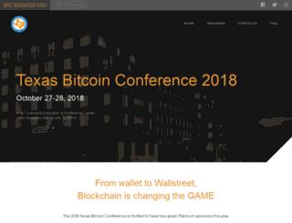 texasbitcoinconference.com screenshot