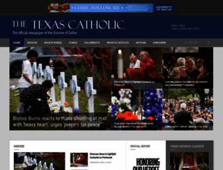 texascatholic.com screenshot