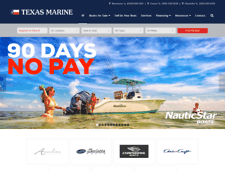 texasmarine.com screenshot