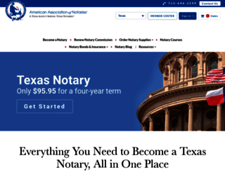 texasnotary.com screenshot