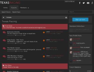 texasracingsite.com screenshot