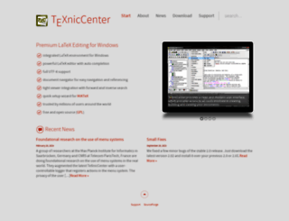 texniccenter.org screenshot
