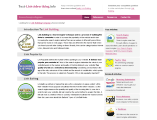 text-link-advertising.info screenshot