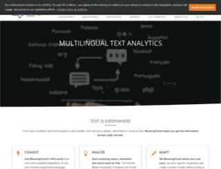 textalytics.com screenshot