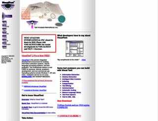 textanalysis.com screenshot