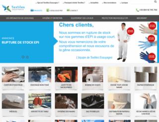 textiles-essuyages.com screenshot