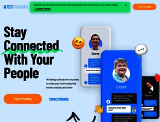 textinchurch.com screenshot