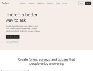 tfnewsletter.typeform.com screenshot