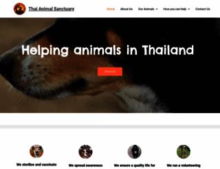 thaianimalsanctuary.com screenshot