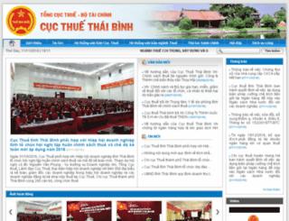 thaibinh.gdt.gov.vn screenshot