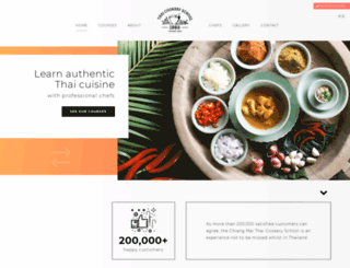 thaicookeryschool.com screenshot