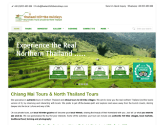 thailandhilltribeholidays.com screenshot