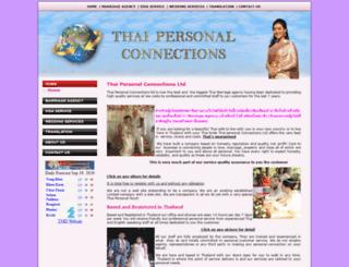 thaipersonalconnectionltd.com screenshot