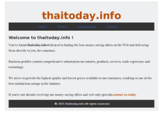 thaitoday.info screenshot