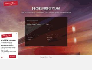 thalys.com screenshot