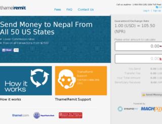 thamelremit.machpay.com screenshot