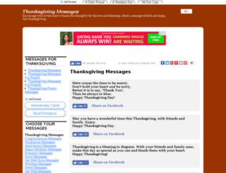 thanksgivingmessages.net screenshot