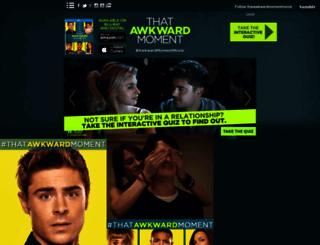 thatawkwardmomentmovie.tumblr.com screenshot
