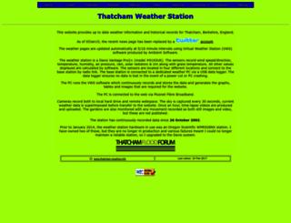 thatcham-weather.info screenshot
