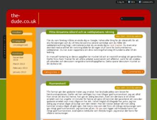 the-dude.co.uk screenshot