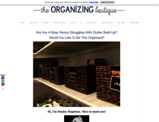 the-organizing-boutique.com screenshot