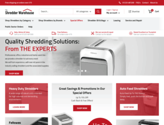 the-shredder-warehouse.com screenshot