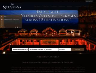 the-verandah-in-the-forest.neemranahotels.com screenshot