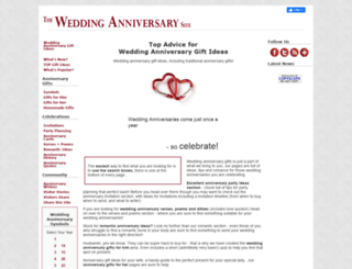 the-wedding-anniversary-site.com screenshot