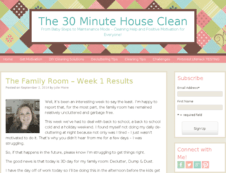 the30minutehouseclean.com screenshot
