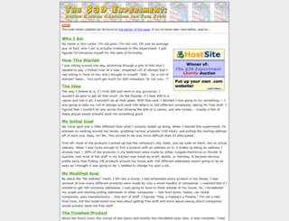 the39dollarexperiment.com screenshot