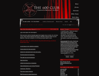 the600club.com screenshot
