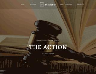 theaction.org screenshot