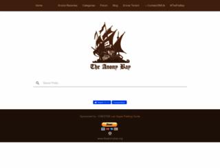 theanonybay.org screenshot