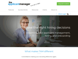 theapplicantmanager.com screenshot
