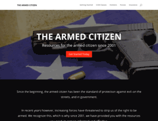thearmedcitizen.com screenshot