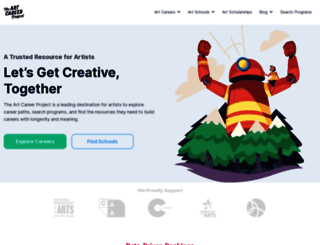 theartcareerproject.com screenshot