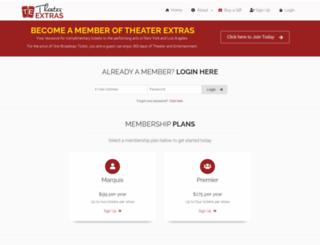 theaterextras.com screenshot