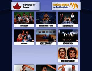 theaterschiff-bremen.de screenshot