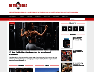 theathleticbuild.com screenshot