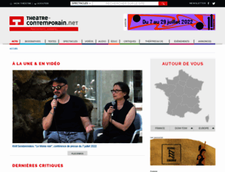 theatre-contemporain.net screenshot